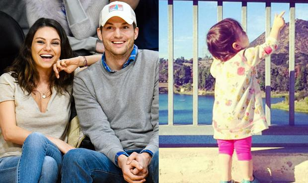 Mila Kunis, Ashton Kutcher and daughter Wyatt