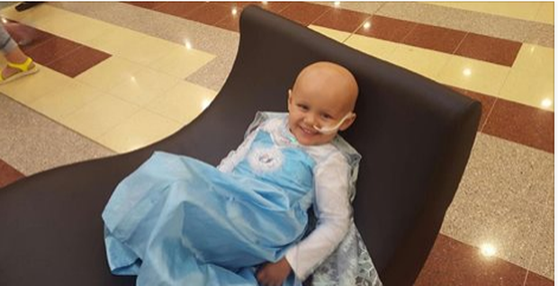 Little Millie who is undergoing chemotherapy for stage 4 Neuroblastoma Credit: Facebook/Millie's Journey