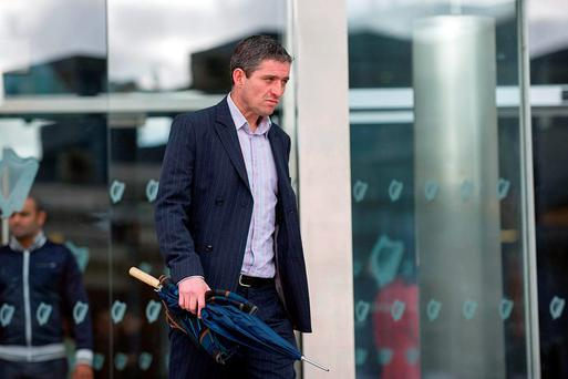 Clive Keogh leaving Dublin Circuit Criminal Court after he received a suspended sentence