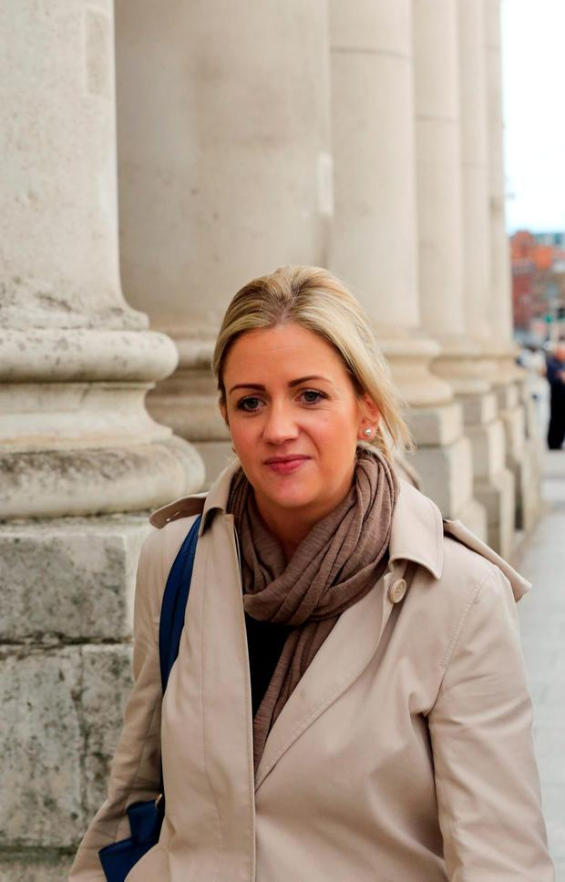 Cassandra Reddin pictured leaving the Four Courts. Photo: Collins Courts
