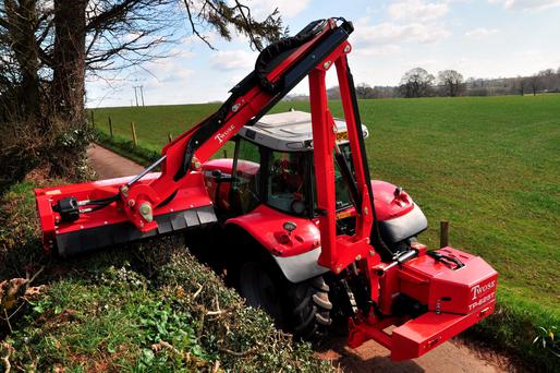 The Blaney hedge cutter, one of the Twose range in action which comes with 0pc finance option.