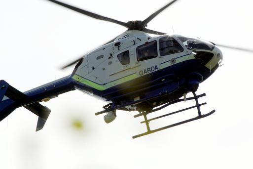 Stock photo of the gardai helicopter