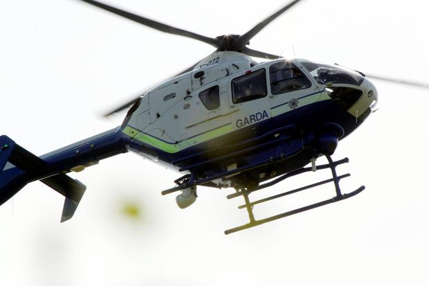 The alarm was raised after the garda air-support unit spotted a car linked to a major countrywide crime spree during a routine flyover of a halting site