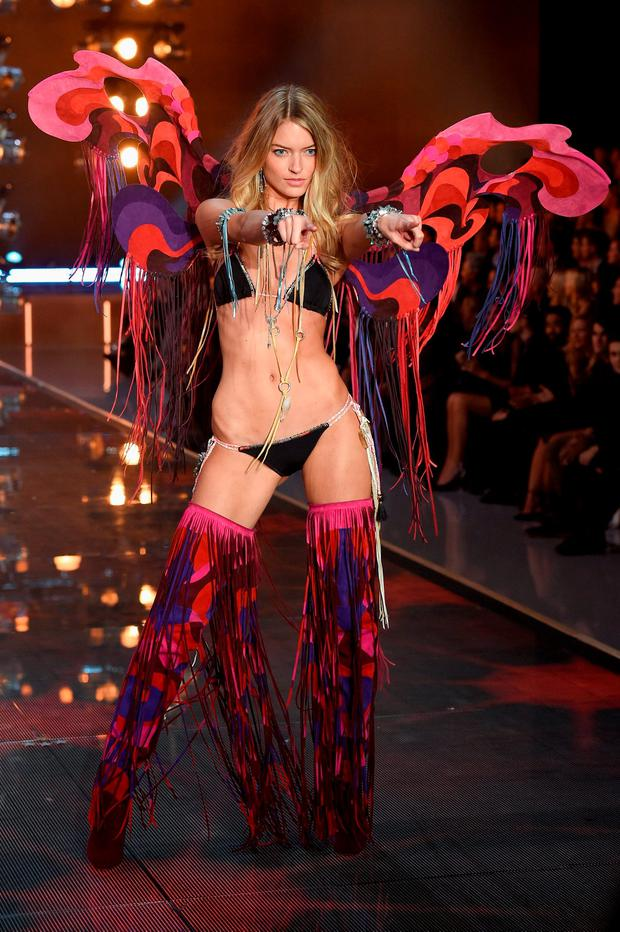 Model and new Victoria's Secret Angel Martha Hunt from North Carolina walks the runway during the 2015 Victoria's Secret Fashion Show at Lexington Avenue Armory on November 10, 2015 in New York City. (Photo by Dimitrios Kambouris/Getty Images for Victoria's Secret)