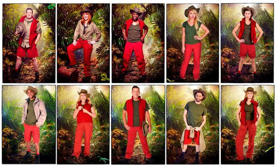 Undated handout composite photo issued by ITV of (top from left) Tony Hadley, Yvette Fielding, Chris Eubank, Jorgie Porter, George Shelley, (bottom from left) Kieron Dyer, Lady Colin Campbell, Duncan Bannatyne, Brian Friedman and Susannah Constantine, who have been revealed as the contestants for I'm A Celebrity ... Get Me Out Of Here! 2015. PRESS ASSOCIATION Photo. Issue date: Tuesday November 10, 2015. See PA story SHOWBIZ Celebrity. Photo credit should read: ITV/PA Wire NOTE TO EDITORS: This handout photo may only be used in for editorial reporting purposes for the contemporaneous illustration of events, things or the people in the image or facts mentioned in the caption. Reuse of the picture may require further permission from the copyright holder.