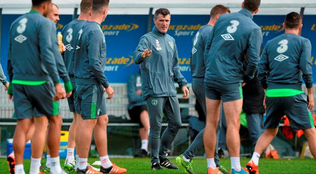 Roy Keane during squad training. Republic of Ireland Squad Training, National Sports Campus, Abbotstown, Co. Dublin. Picture credit: David Maher / SPORTSFILE
