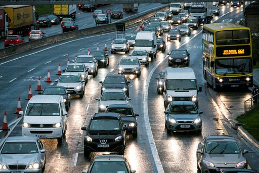 Traffic chaos near the M50 this morning