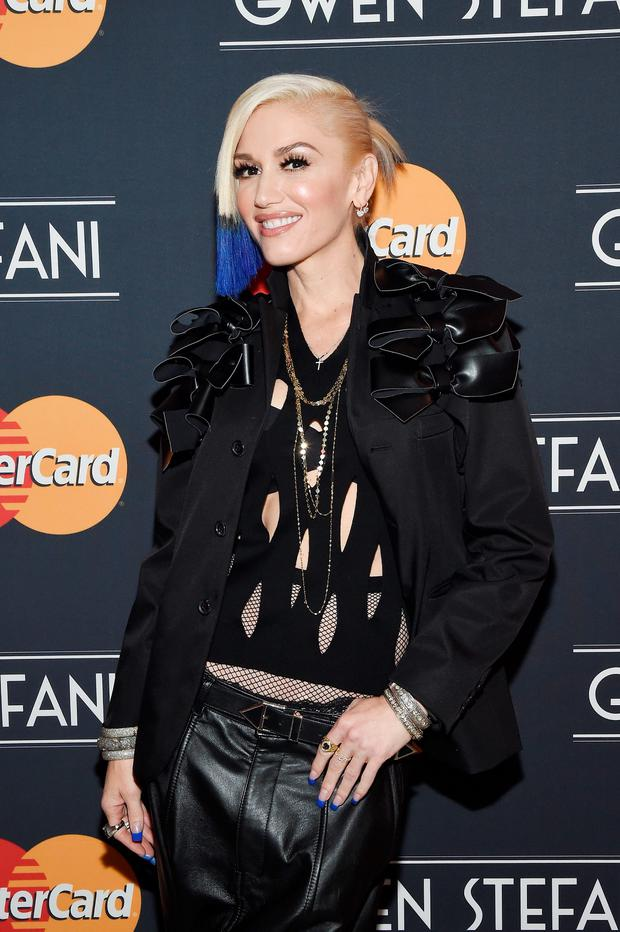Gwen Stefani poses befor a concert presented by MasterCard exclusively for its cardmembers at Hammerstein Ballroom at the Manhattan Center on October 17, 2015 in New York City. (Photo by Larry Busacca/Getty Images for MasterCard)