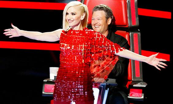 Gwen Stefani and Blake Shelton on The Voice US