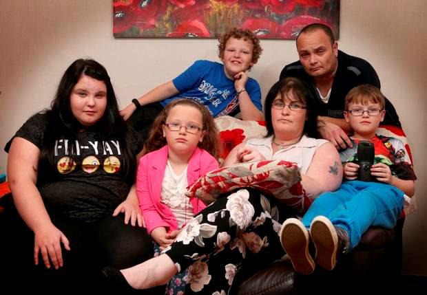 Sarah Hanna at home in Cloughmills with her partner Stephen Gilmour and their children