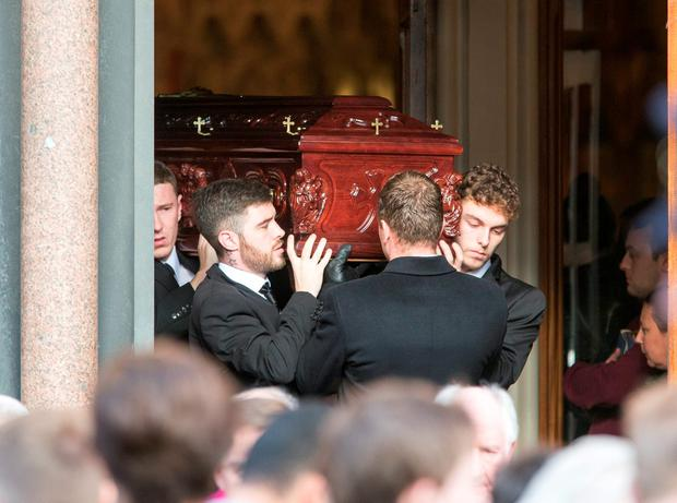The Funeral of Lorcan O'Reilly at The Church of Saints Augstine and John The Baptist