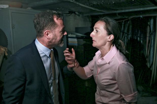 Fair City Eps 178 TX: Thursday 12th November, 2015 Debbie is horrified to discover she is being held captive by Cathal L-R Cathal - Eric Lalor Debbie - Niamh Daly