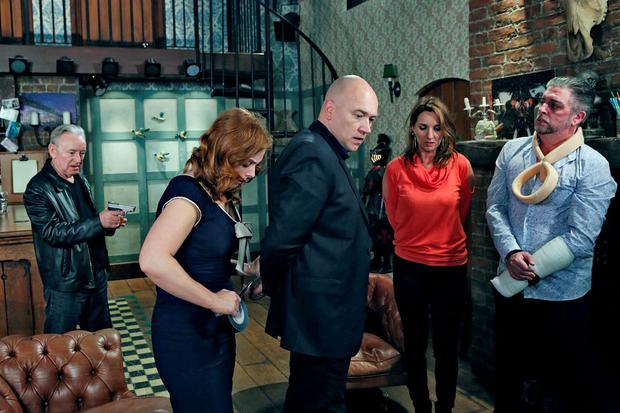 Fair City Eps 178 TX: Thursday 12th November, 2015 Flynn makes Niamh tie the other up L-R Flynn - Don Baker Niamh - Clelia Murphy Paul - Tony Tormey Carol - Aisling O'Neill Robbie - Karl Shiels