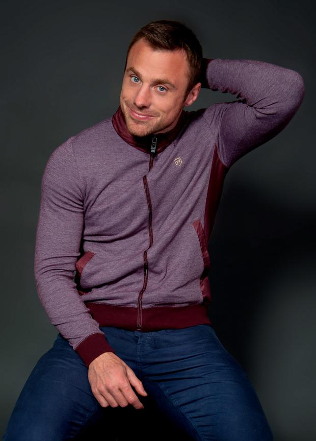 Tommy Bowe modelling his XV Kings clothing collection.