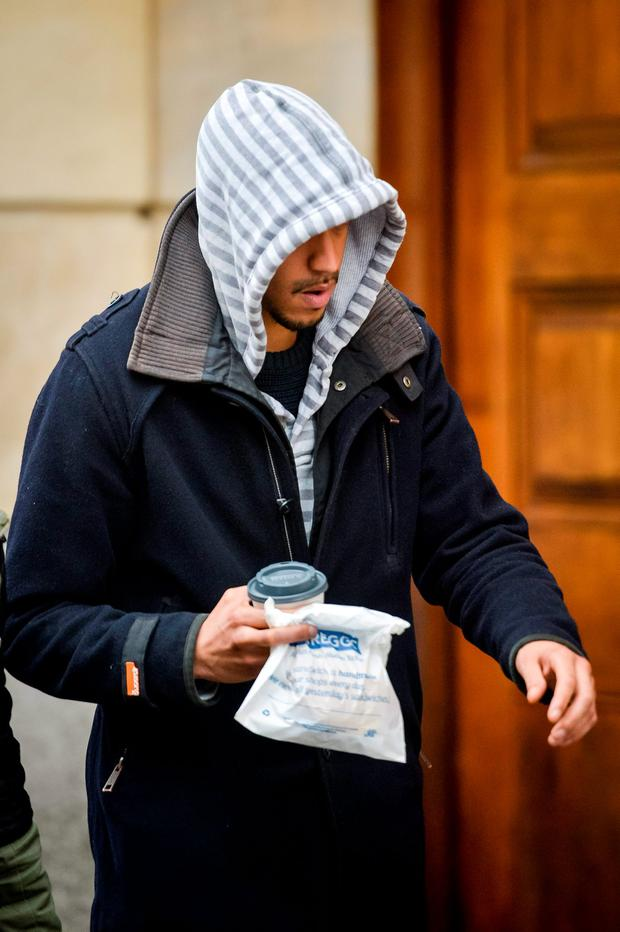 Donovan Demetrius arrives at Bristol Crown Court, accused of assisting an offender in the Becky Watts murder trial. Ben Birchall/PA Wire