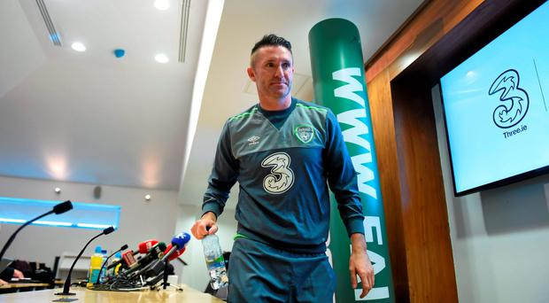 Ireland's Robbie Keane following a press conference