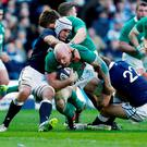 Paul O'Connell in action for Ireland against Scotland last year