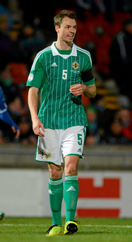 Jonny Evans is due to return to the starting XI for tomorrow night's friendly against Latvia