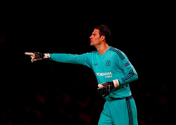 Asmir Begovic of Chelsea in action