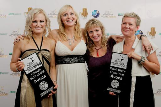 Pictured after Avoca won the 2008 Retail Store of the Year award were store manager Lynn Henry, broadcaster Miriam O'Callaghan, Amanda Pratt and Vanessa Pratt
