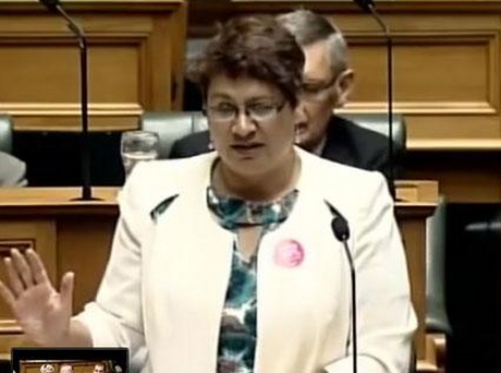 The Green Party's Metiria Turei speaking at the Christmas Island debate. Photo: YouTube