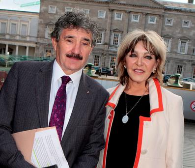 Deputy John Halligan with Christine Donnelly