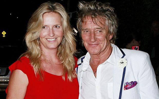 Penny and husband Rod Stewart
