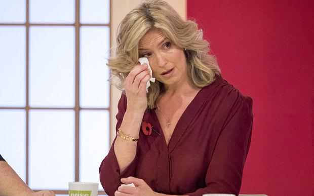 Penny Lancaster cries during recording of Loose Women