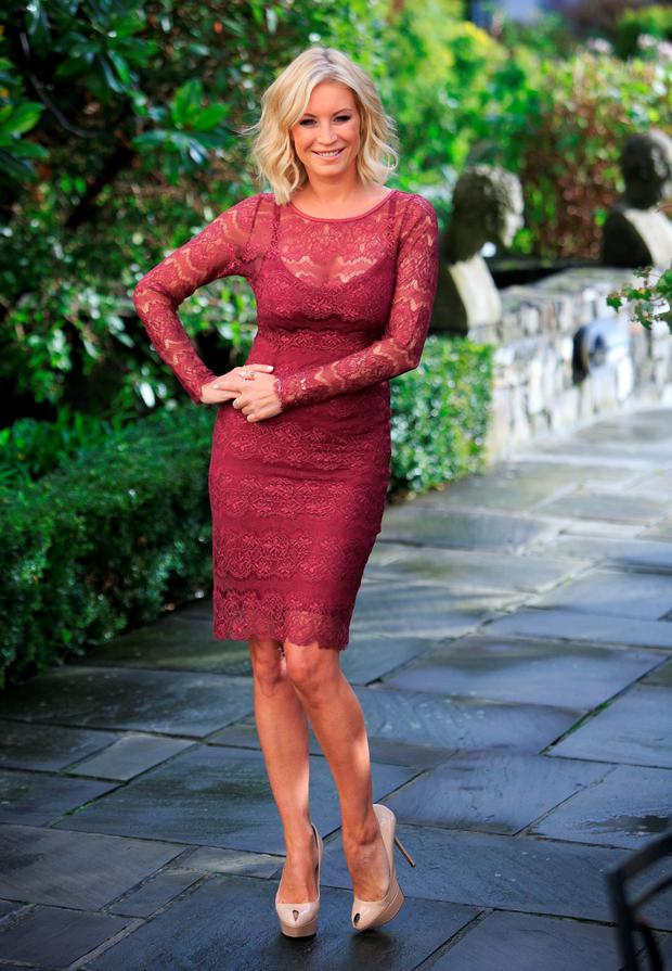 Denise Van Outen at the official launch of XLS-Medical Max Strength, in the Merrion Hotel, Dublin. Photo: Gareth Chaney Collins