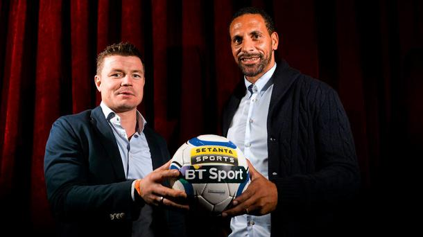 Brian O'Driscoll and Rio Ferdinand at Setanta announcement