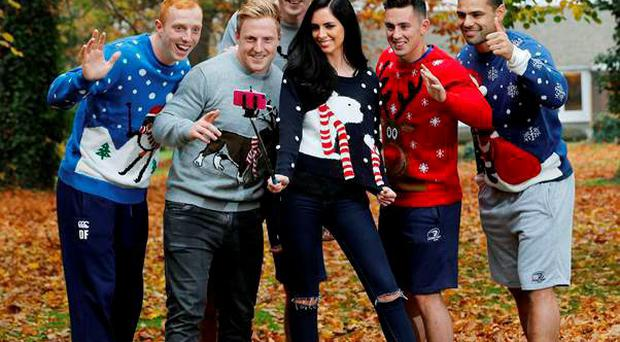 Darragh Fanning, Devin Toner, James Tracy, Noel Reid and Ben Te'o were on hand to launch the CRY Christmas Jumper Selfie campaign