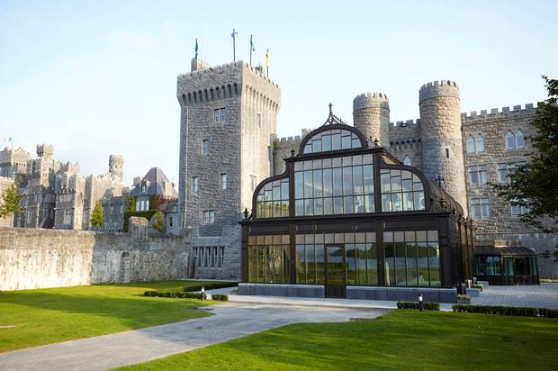 The new spa, housed within a bronze conservatory, at Ashford Castle.