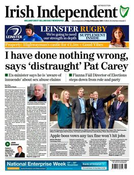 The front page of today's Irish Independent