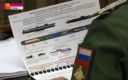 The Kremlin says secret plans for a Russian long-range nuclear The Kremlin says secret plans for a Russian long-range nuclear torpedo called