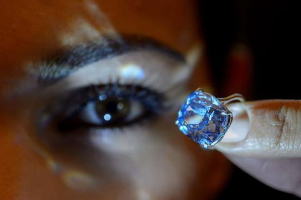 The flawless 'Blue Moon' diamond bought at the auction
