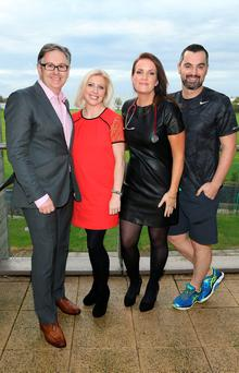 Operation Transformation The Experts: Dr Eddie Murphy,Dietician Aoife Hearne,Dr Ciara Kelly and Fitness Guru Karl Henry at Sports Link Santry Dublin