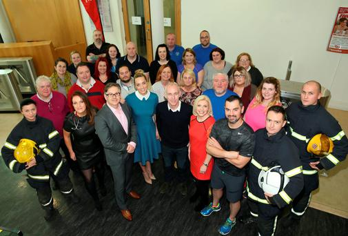 Rte's Operation Transformation Presenters Ray Darcy and Kathryn Thomas with the experts and leader for the new series. Picture Brian McEvoy No repro fee