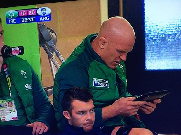 Paul O'Connell during the Rugby World Cup defeat to Argentina.