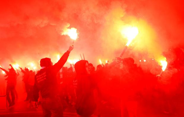 Bosnia fans outside the stadium before the match Reuters / Dado Ruvic Livepic
