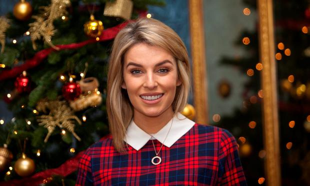 Great expectations: Pregnant Pippa O'Connor will be cooking Christmas dinner for eight.