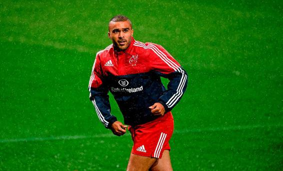 Simon Zebo, Munster, before the game. European Rugby Champions Cup, Pool 4, Round 1, Munster v Benetton Treviso. Thomond Park, Limerick. Picture credit: Diarmuid Greene / SPORTSFILE