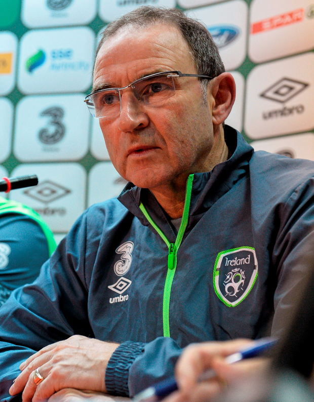 12 November 2015; Republic of Ireland manager Martin O'Neill during a press conference. Stadion Bilino Pole, Zenica, Bosnia & Herzegovina. Picture credit: David Maher / SPORTSFILE