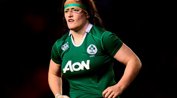Ireland's Ailis Egan during the Autumn International match
