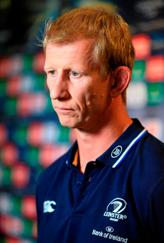 4 November 2015; Leinster head coach Leo Cullen. 2015/16 European Rugby Champions Cup and Challenge Cup Launch. The Stoop, Twickenham, England. Picture credit: Matt Impey / SPORTSFILE