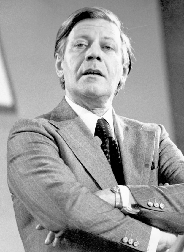 (FILE PHOTO) Former Chancellor Of West Germany Helmut Schmidt has died aged 96 30th November 1974: West German Chancellor of the Federal Republic of Germany Helmut Schmidt (1918 - ). (Photo by Central Press/Getty Images)