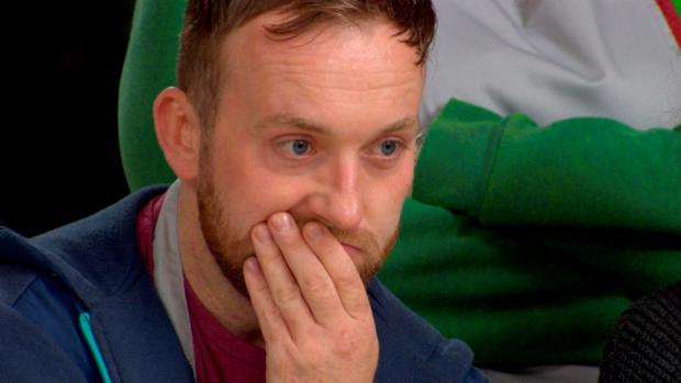 DAMIEN CARTER looks devastated as he discovers he getting the boot on this week's Great Irish Bake Off. The Great Irish Bake Off airs Sunday at 9pm on TV3.