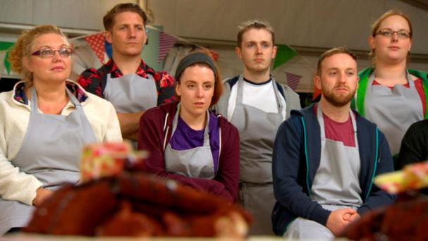 Group shot of the bakers on this week's Great Irish Bake Off The Great Irish Bake Off episode 4 airs this Sunday (15th November) at 9pm on TV3.