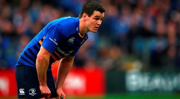 DUBLIN, IRELAND - NOVEMBER 15: Johnny Sexton of Leinster looks on during the European Rugby Champions Cup match between Leinster Rugby and Wasps at the RDS Arena on November 15, 2015 in Dublin, Ireland. (Photo by Ian Walton/Getty Images)
