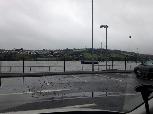 Pitches near a leisure centre in Letterkenny, Co Donegal Pic: @MurphyGPhotos/Twitter