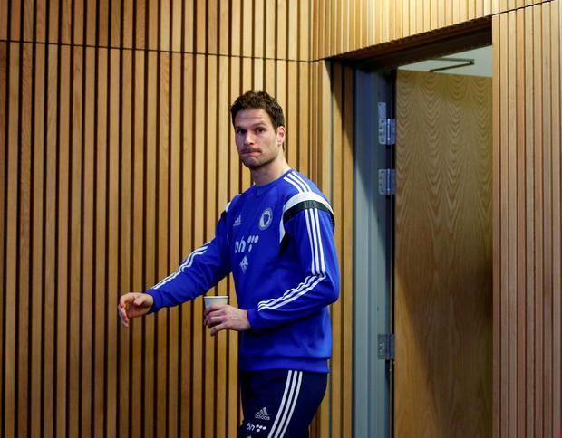 Football - Bosnia & Herzegovina Press Conference - Aviva Stadium, Dublin, Republic of Ireland - 15/11/15 Bosnia's Asmir Begovic arrives for the press conference Action Images via Reuters / Lee Smith Livepic